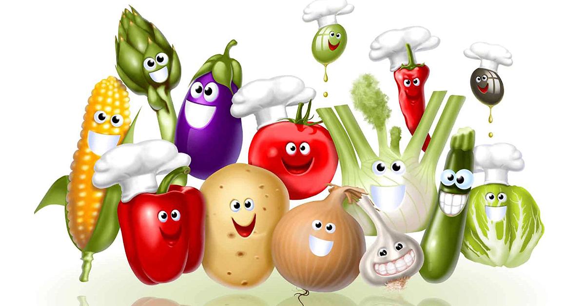 Рисунки прикольных овощей для детей